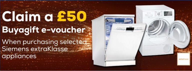 Read more about the article £50 voucher with Siemens ExtraKlasse Appliances