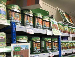 Cuprinol shelves stocked to bursting!