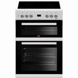 Beko EDC633W 60cm Double Oven Electric Cooker- White