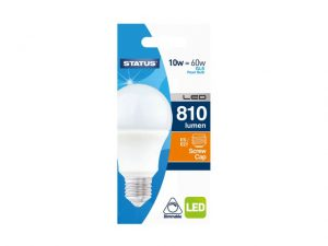 GLS LED 10W Pearl Edison Screw Dimmable Warm White