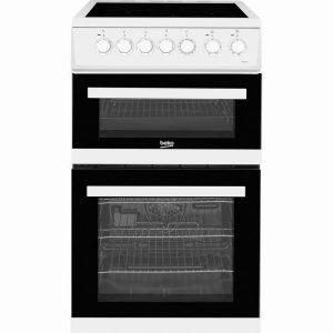 Beko EDVC503W 50cm Double Oven Electric Cooker