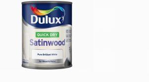 Dulux Quick Dry Satinwood Pure Brilliant White 750ml