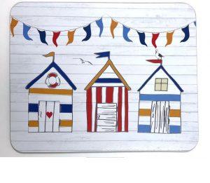 Placemats x 6 Summer Beach Huts