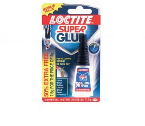 LOCTITE Super Glue Bottle 5g + 50% Free