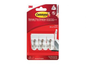 Command Small Wire Hooks x 3