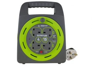Status Cable Reel 4 Socket 13amp 15m Thermal Cut Out