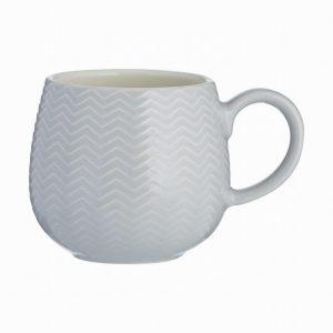 Mason Cash Embossed Chevron Mug Grey