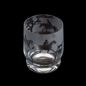 Dartington Glass Aspect Tumbler Hunting Scene