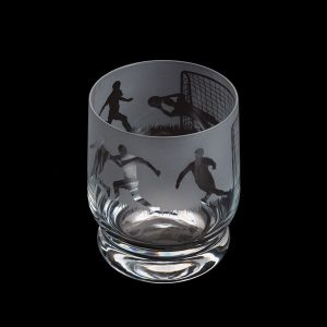 Dartington Glass Aspect Tumbler Football