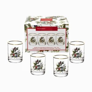 Portmeirion The Holly and the Ivy Double Old Fashioned Glass Set