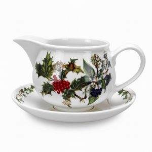 Portmeirion The Holly and the Ivy Gravy Boat and Stand