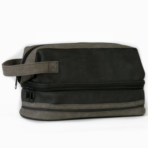 Brompton & Langley – Charcoal Two Section Wash Bag