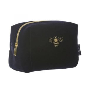 Danielle Small Navy Velvet Boxy Bag – Bumble Bee
