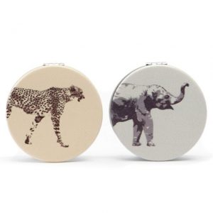 Danielle Creations Safari Compact Pocket Folding Mirror Elephant