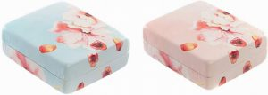 Danielle Creations Floral Awakening Pill Box- Pink OR Blue