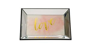 Danielle Creations Mirrored Jewellery Tray with Love Quote