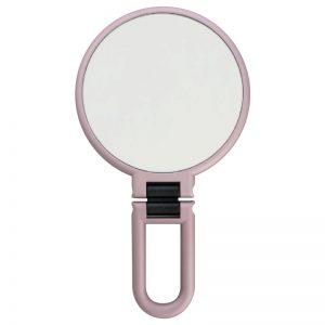 Danielle Blush Pink Metallic Soft Touch Hand Held Mirror