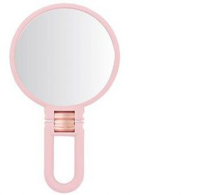 Danielle Creations Handheld Soft Touch Mirror- Pink