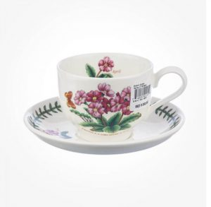 Portmeirion Flower Of The Month April Teacup And Saucer+ Giftbox