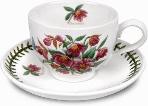 Botanic Garden Flower Of The Month Teacup & Saucer+ Giftbox