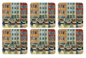 Pimpernel Boat Scene Coasters Set of 6