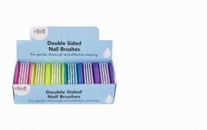 Elliott Double Sided Nail Brush (single)- Assorted Colours