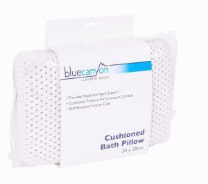 Blue Canyon Cushioned Bath Pillow White