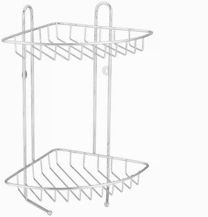 2 Teir Stainless Steel Corner Shower Caddy