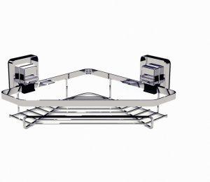 Showerdrape Pushloc Corner Basket- Chrome