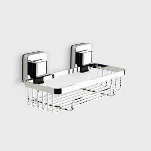 Showerdrape Pushloc Rectangular Basket, Chrome