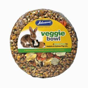 Johnsons Rabbit & Guinea Pig Veggie Bowl- 180g