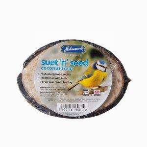 Johnsons Wild Bird Suet 'n' Seed Coconut Treat