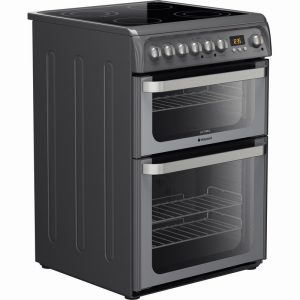 HOTPOINT ULTIMA HUE61G S COOKER – GRAPHITE