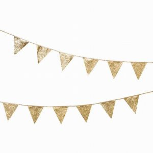 Talking Tables Luxe Gold Glitter Bunting