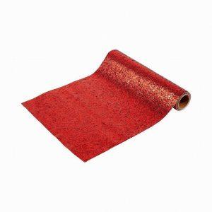 Talking Tables Botanical Nutcracker Table Runner – Red Glitter