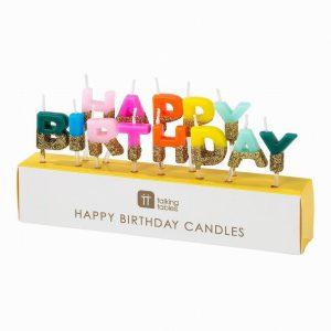 Talking Tables Rainbow Happy Birthday Candles