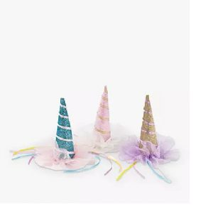 Talking Tables Unicorn Hat Hair Clip- Assorted