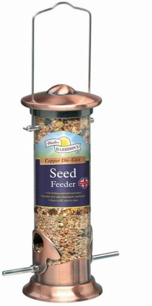 Harrisons Cast Copper Plated Seed Feeder 20cm