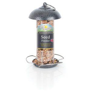 Harrisons Hammertone Silver Mini Seed Feeder 20cm