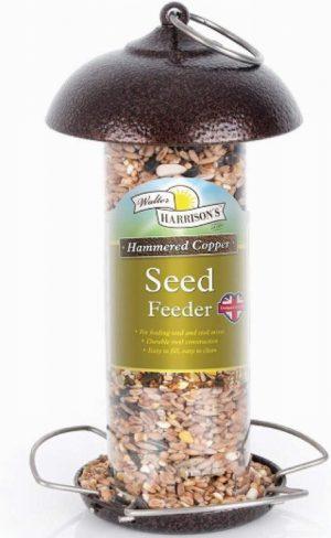 Harrisons Hammertone Copper Mini Seed Feeder 20cm