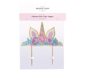 Mason Cash Unicorn Ears Cake Topper