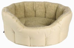 P&L Premium Oval Drop Fronted Softee Bed- Oatmeal and Cream (4)