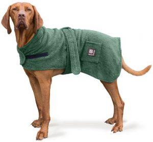 Danish Designs Dog Towelling Robe- Green (30cm / 12″)