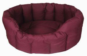 P&L Heavy Duty Waterproof Oval Dog Bed- Burgandy (4)