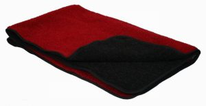 P&L Double Thickness Sherpa Fleece Blanket- Red and Black L