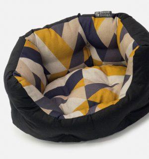 Danish Design Oval Dog Bed- Geo Tiles (Medium)