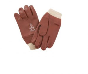 Kent Glove PVC Knitwrist Red 7.5in Small