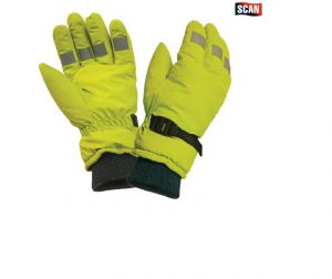 Scan Hi-Visibility Gloves Yellow – L