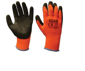Scan Thermal Latex Coated Gloves – L (Size 9)