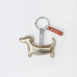 Caroline Gardner Gold Sausage Dog Keyring